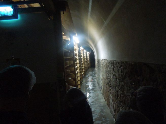 entering the cheese cave